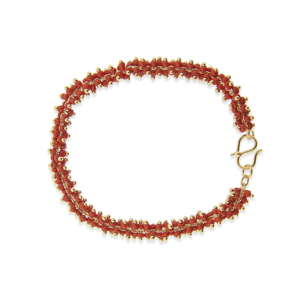 Lyon Bracelet - Red/Yellow Gold
