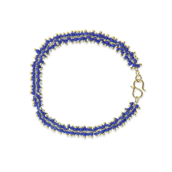 Lyon Bracelet - Dark Blue/Yellow Gold