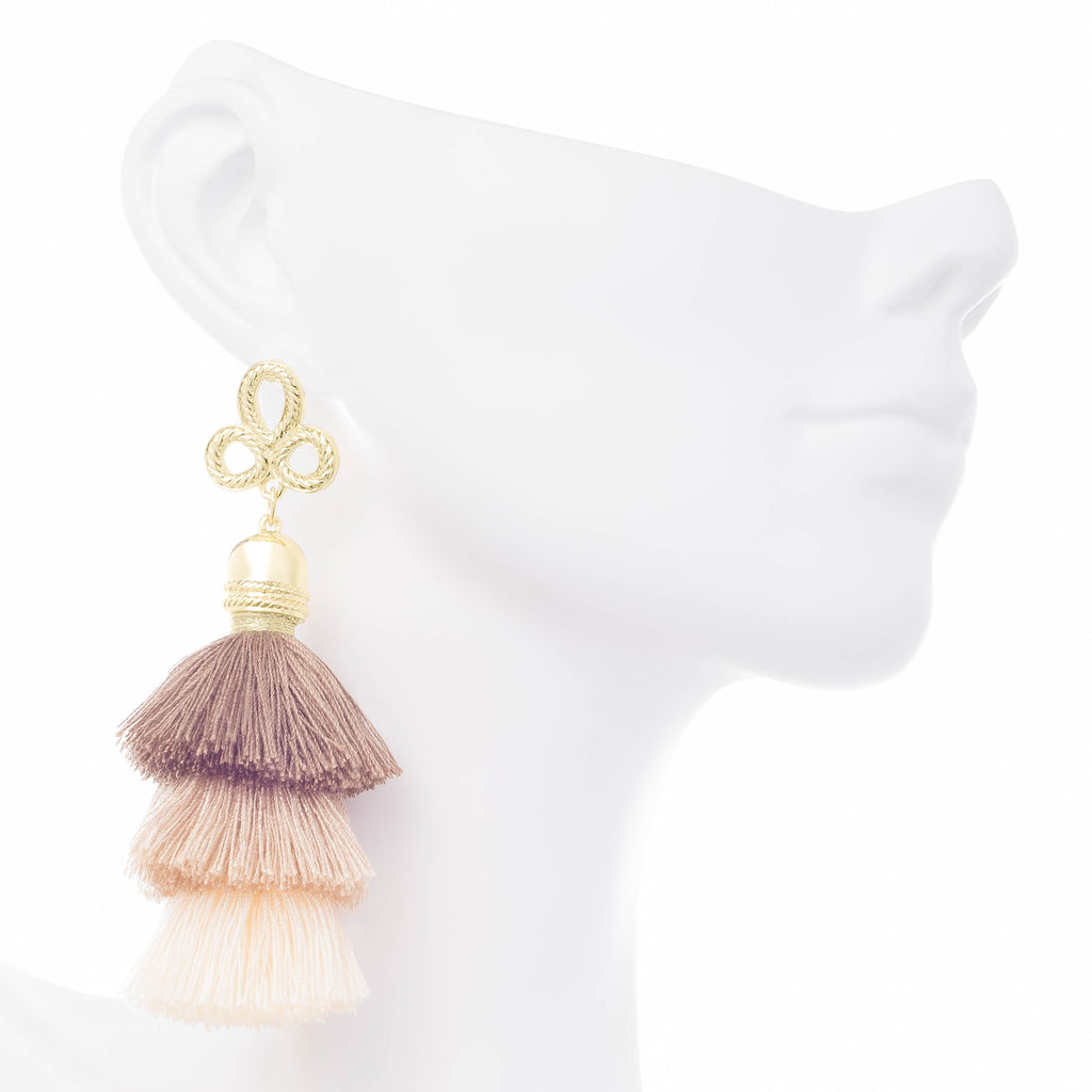Alora Earrings - Yellow Gold / Brown