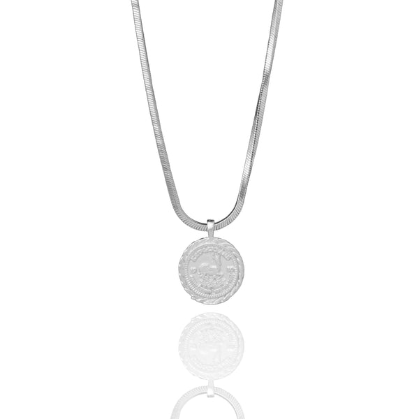 Krugerrand Necklace - Silver