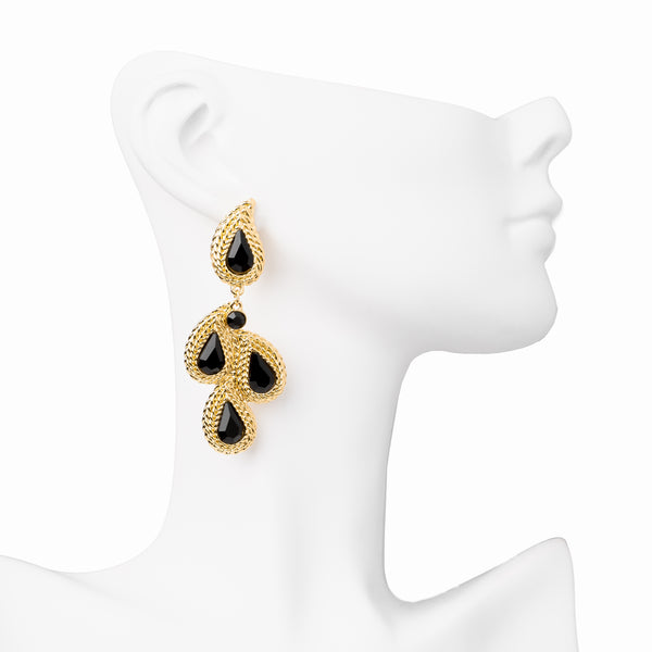 The Laurel Earrings - Black