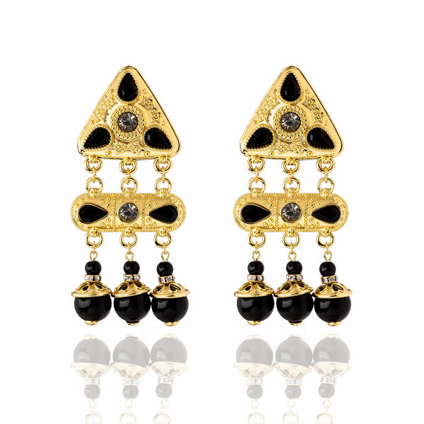 The Mulholland Earrings - Black