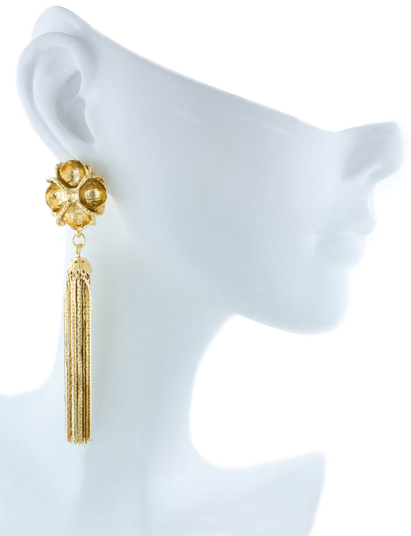 Fleur Earrings - Yellow Gold