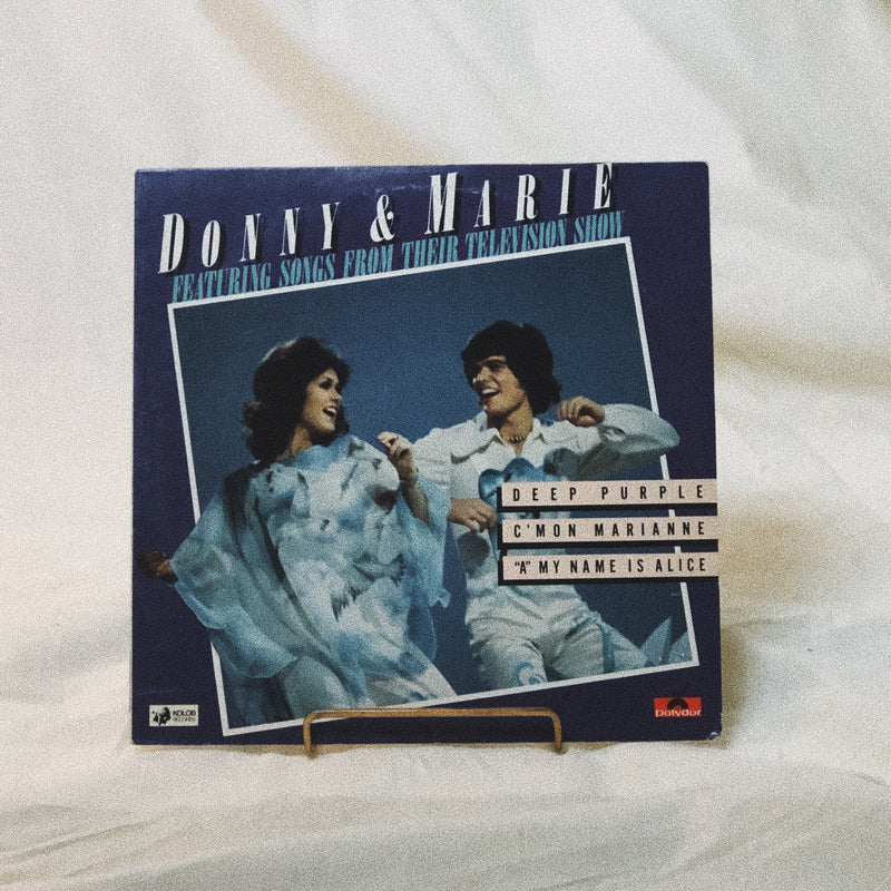 Donny & Marie Osmond ‎– Donny & Marie Featuring Songs From Their Television Show (vinyl record)