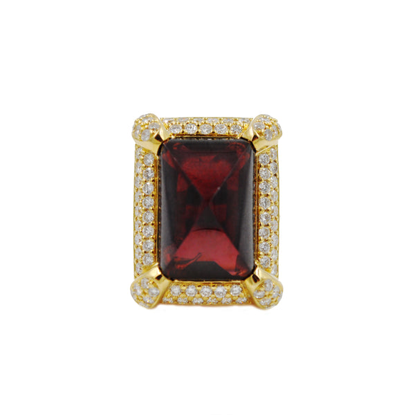 Vintage Luxe Bordeaux Ring