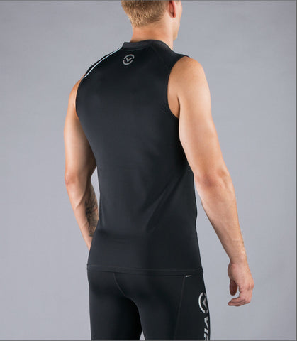 Men's Stay Cool Sleeveless Compression V-Neck (Co4)