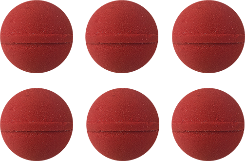 6 Mini Aromatherapy Bombs: Red *LIMITED TIME*