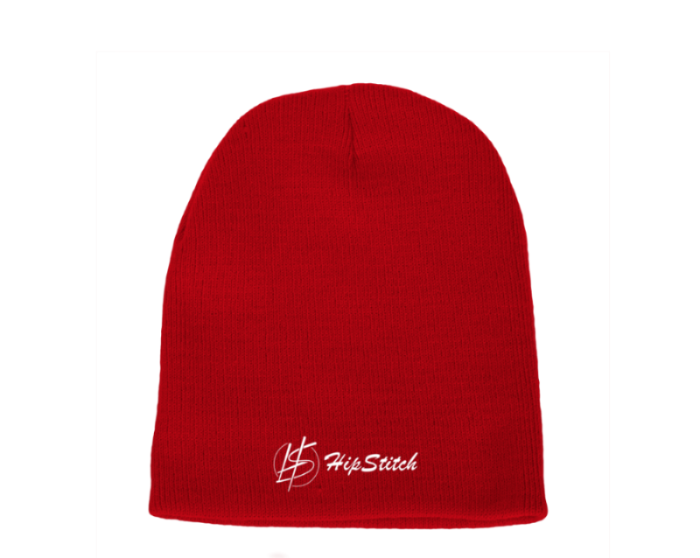 Beanie: HipStitch Red
