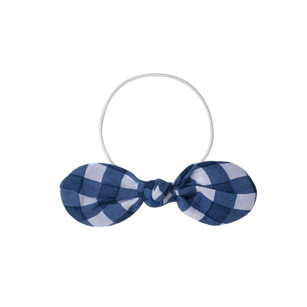 Elastic Hair Bow Big Check