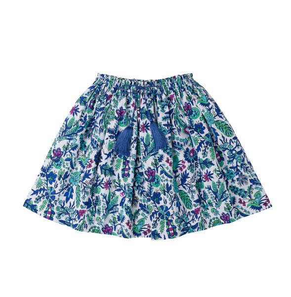 children's floral skirt cotton tassel