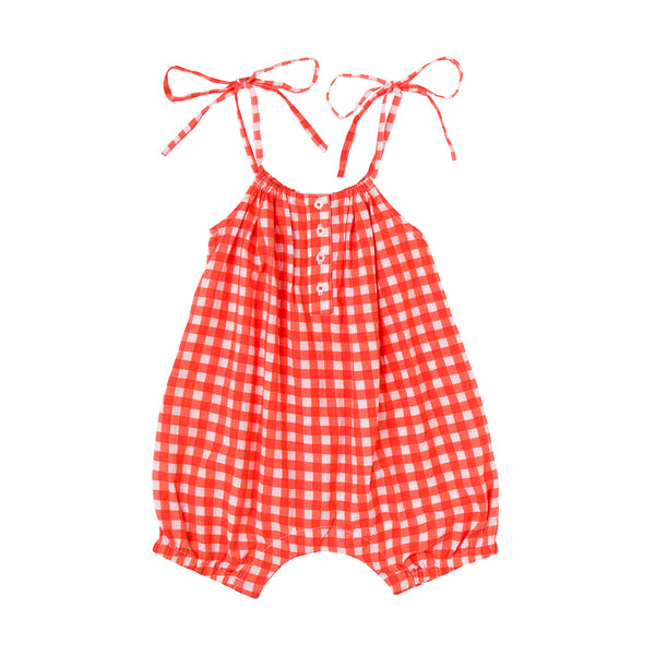 Lucie Romper Big Check
