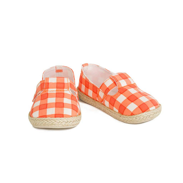 Mini Espadrille Poppy Red Checks
