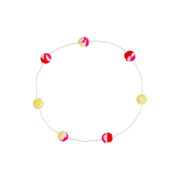 Pom Pom Necklace Blush