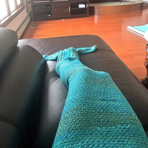 Sea Green Mermaid Blanket