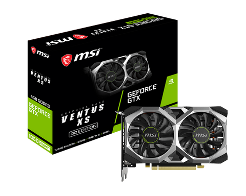 MSi GeForce GTX1650 SUPER DUAL FAN 4GB PCI-E Videocard