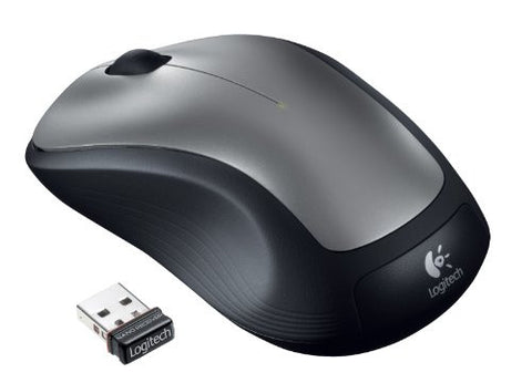 Logitech M310XL (Full Size) Comfort Wireless Mouse (Black/Silver)