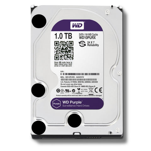 "Western Digital 1TB SATA III PURPLE 3.5"" HDD"