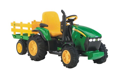 Peg Perego John Deere Ground Force Ride-on Tractor with Trailer