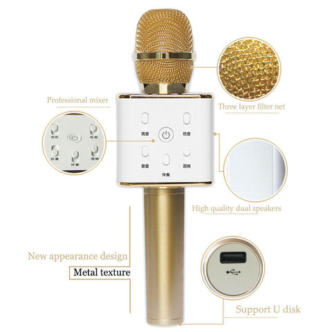 Q7 Karaoke Microphone w Built-in Speaker