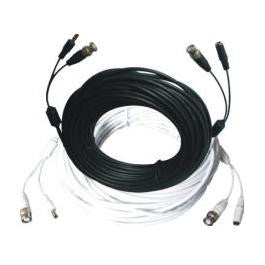 25' CCTV Camera Video (BNC) & Power All-In-One Cable