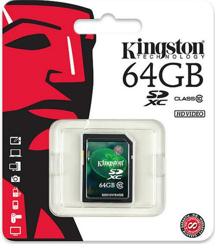 Kingston 64GB SD Card Class 10