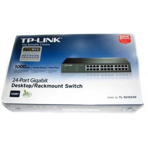 TP-Link 24-Port Desktop/Rackmount Gigabit 10/100/1000 Switch
