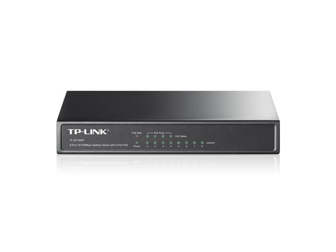 TP-Link 8-Port 10/100Mbps Desktop Switch with 4-Port POE