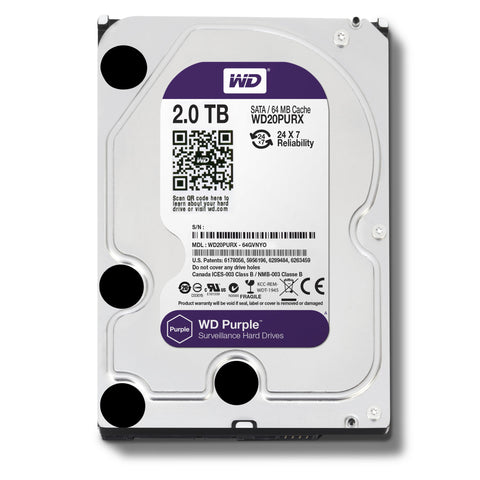 "Western Digital 2TB SATA III PURPLE 3.5"" HDD"