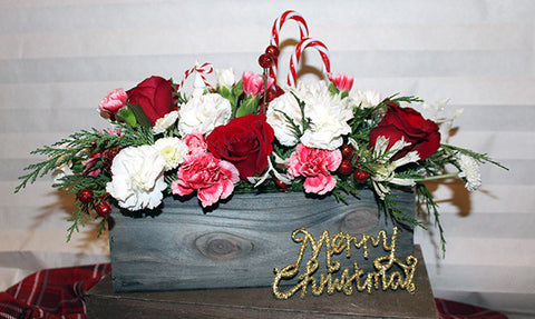Christmas CandyCane Flowers