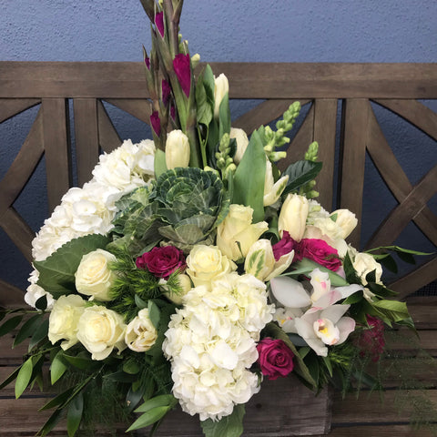 sweet sympathy flower arrangement