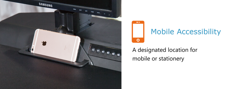 mobile accessibility - a designated location for mobile or stationery