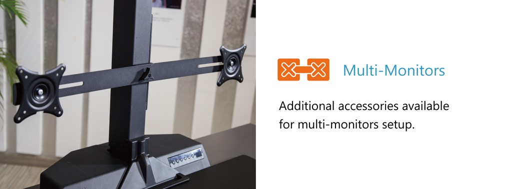 Multi-monitors - additional accessories available for multi-monitors setup