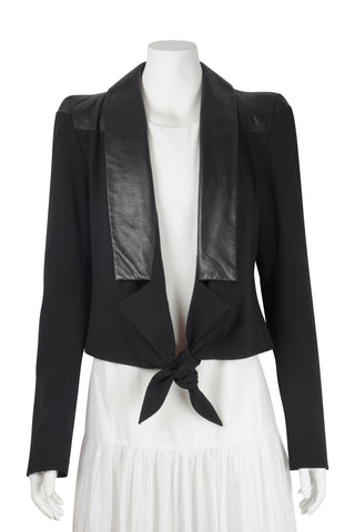 Ellery Black panel tie up jacket