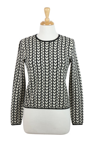 Michael Kors Black and white cashmere jumper