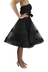 Alex Perry Black organza celebration dress