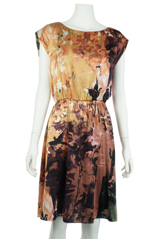 Alice + Olivia Autumn silk dress