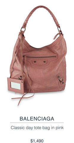 BALENCIAGA  Classic day tote bag in pink