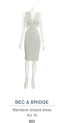 BEC & BRIDGE  Wanderer striped dress