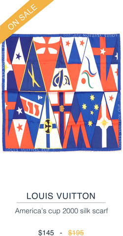 LOUIS VUITTON  America's cup 2000 silk scarf