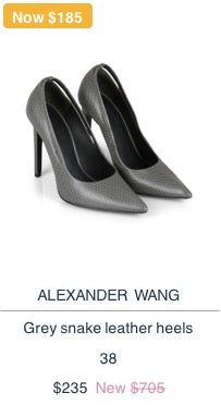 Alexander Wang Leather Heels