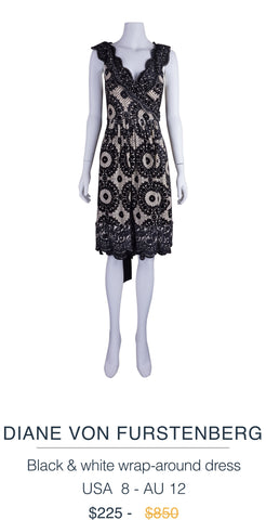 Diane von Furstenberg wrap around dress