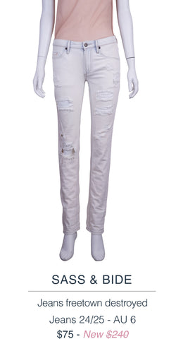 Sass & Bide jeans freetown destroyed