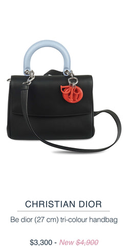 CHRISTIAN DIOR  Be dior (27cm) tri-colour handbag