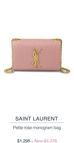 Saint Laurent Petite rose monogram bag