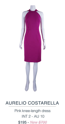 Aurelio Costarella Pink knee length dress