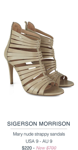 SIGERSON MORRISON  Mary nude strappy sandals