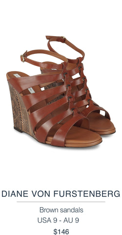 DIANE VON FURSTENBERG  Brown sandals