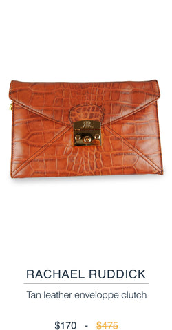 Rachel Ruddick Leather Clutch