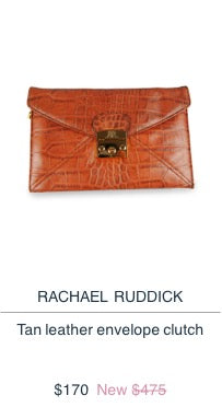 Rachael Ruddick Leather Clutch