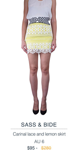 Sass & Bide lemon Skirt